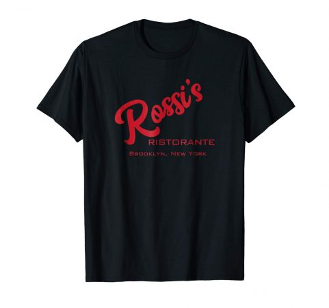 Rossi's Ristorante (black shirt with red lettering: short sleeve)